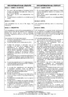 UVS International Statute – Bi-lingual English/Dutch
