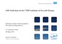 10. UAV Activities at the TUM Institute of Aircraft Design – Joachim Schömann – Technische Universität München