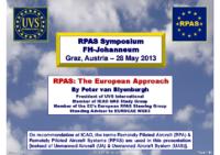 01. RPAS: The European Approach – Peter van Blyenburgh – UVS International