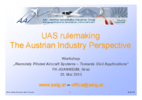 02. UAS rulemaking The Austrian Industry Perspective – Raoul Fortner – Austrian Aeronautics Industries Group