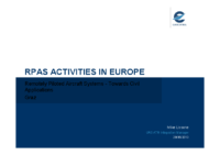 04. RPAS Activities in Europe : towards Civil Applications – Mike Lissone – Eurocontrol