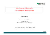 05. Radio Spectrum Allocations for UAV Operations and Applications – Gerhard Mayer – Salzburg University