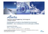 06. Certification of UAS in the EASA Environment EUROPAS – Dr. Hans Tönskötter, Karl-Heinz Kurz, Dr. Josef Mendler – AIRCERT