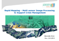 09. Rapid Mapping – Multi sensor Image Processing to Support Crisis Management – Alexander Almer – Joanneum Research Digital