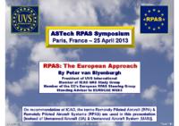02 – RPAS EuroApproach, par Peter van Blyenburgh