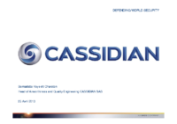 07 – Présentation Cassidian, par Bernadette Veye dit Chareton, Head of Airworthiness and Quality Engineering