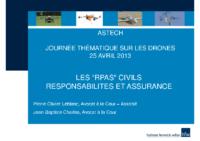 19 – Présentation des responsabilités et assurances des RPAS civils, par Pierre-Olivier Leblanc et Jean-Baptiste Charles, avocats à la cour